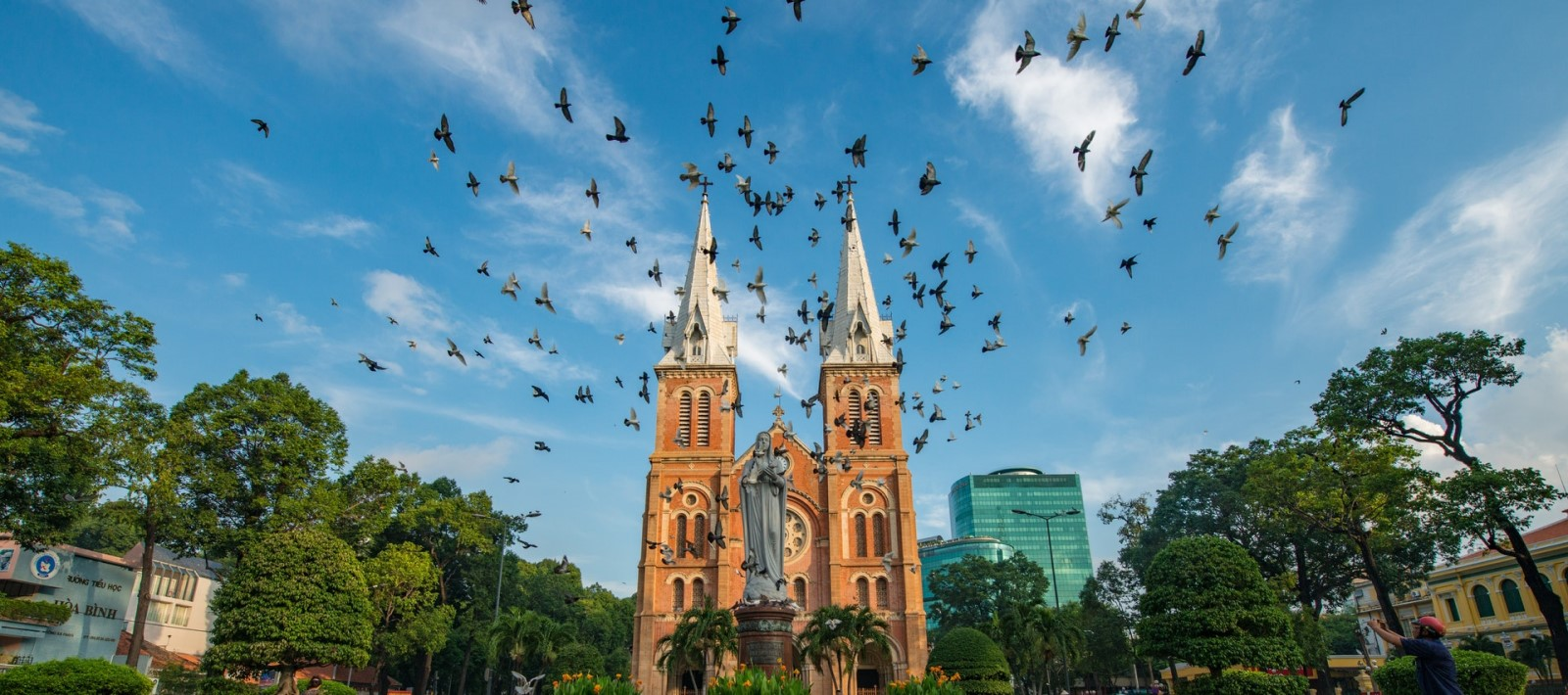 Notre Dame Cathedral in downtown Ho Chi Minh